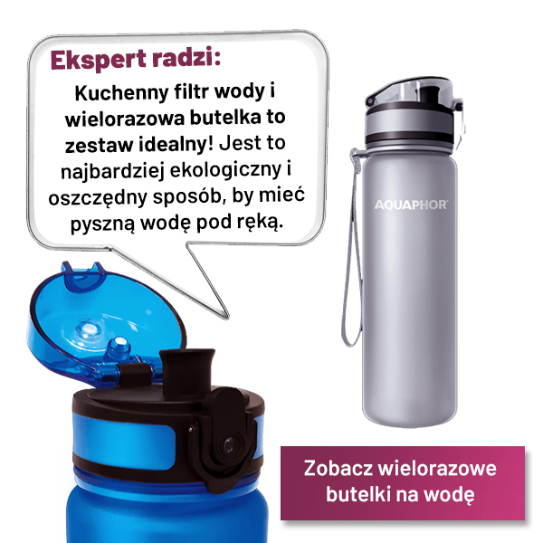 wielorazowa butelka na wodę aquaphor